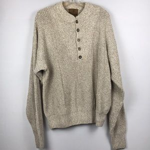 REDHEAD sweater SZ Large Tan knitted pullover EUC